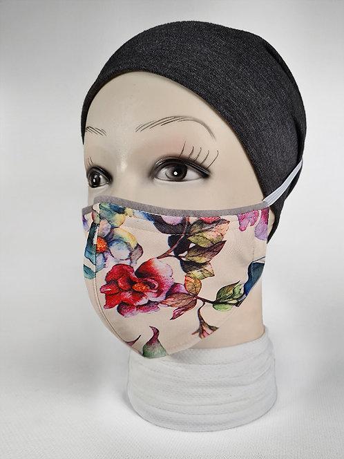 Cream Sweet Peas Summer Mask