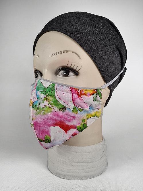 Pink Floral Summer Face Mask