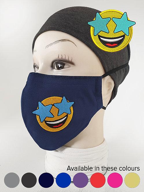 'Starstruck'' Emoji Mood Mask