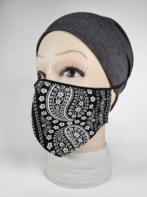 Large Paisley Designer Face Mask