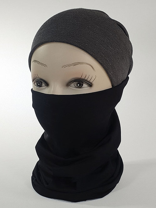 Basic Black Tubular Head Scarf