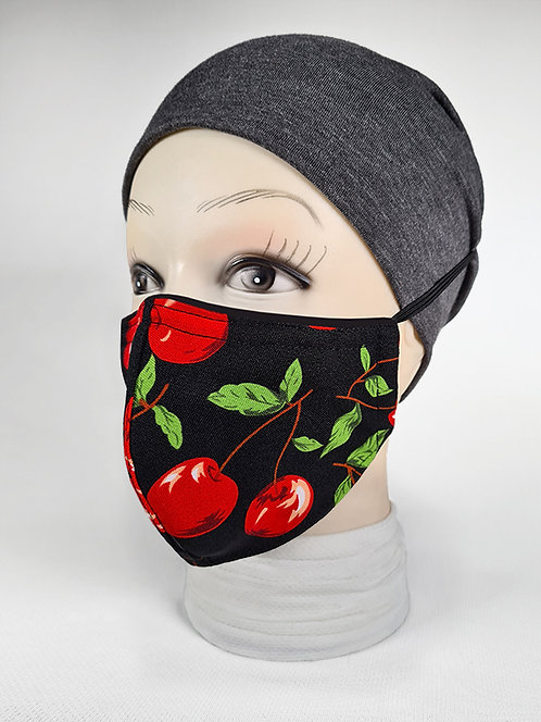 Red Cherry Holiday Face Mask