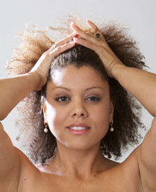 Kim Nalley front Hair Push