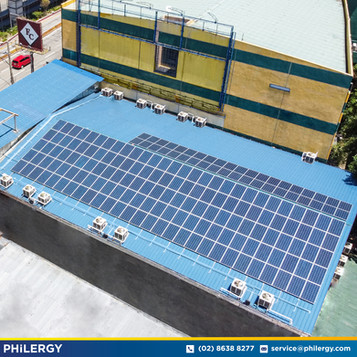 180-panel grid-tied solar system in Muñoz, Quezon City - PHILERGY German Solar
