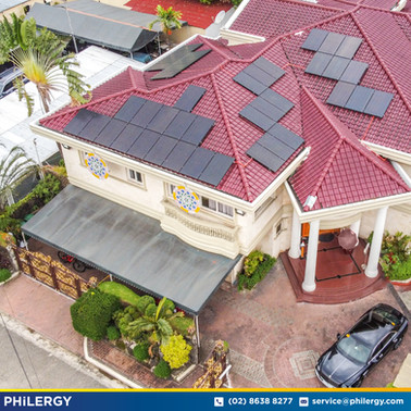41-panel grid-tied solar system in Green Meadows, Quezon City - PHILERGY German Solar