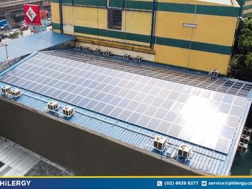 258-panel grid-tied solar system in Muñoz, Quezon City - PHILERGY German Solar