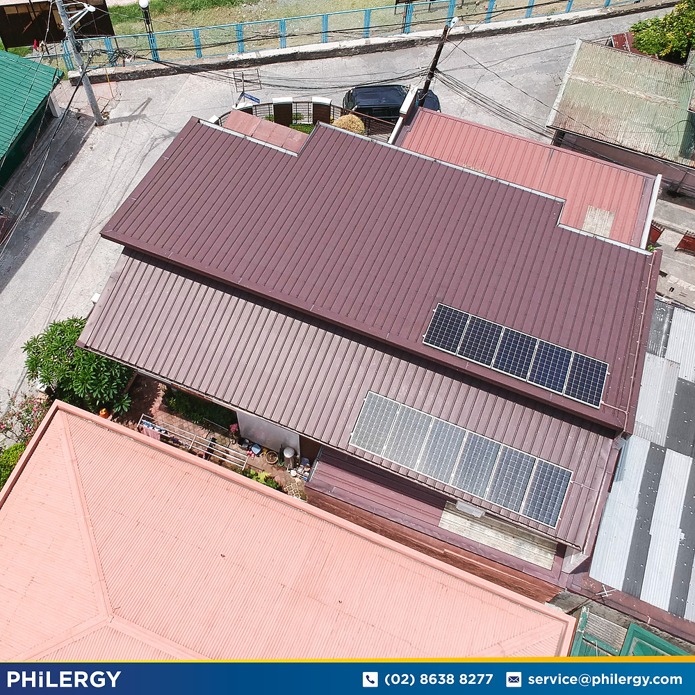 PHILERGY German Solar for homes and businesses  - 3.3 kwp gridtied for Marikina City home - High quality installer for solar power systems and top rated panel packages for residential, commercial and industrial roofs in the Philippines