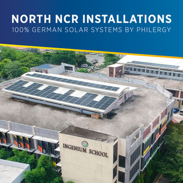 100% German Solar System Installations in North NCR, Philippines - PHILERGY