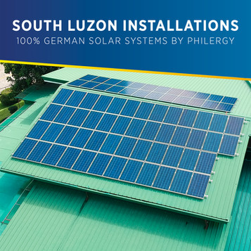 100% German Solar System Installations in South Luzon, Philippines - PHILERGY