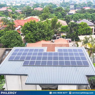 15 kWp grid-tied solar system in Congressional Village, Quezon City - PHILERGY German Solar