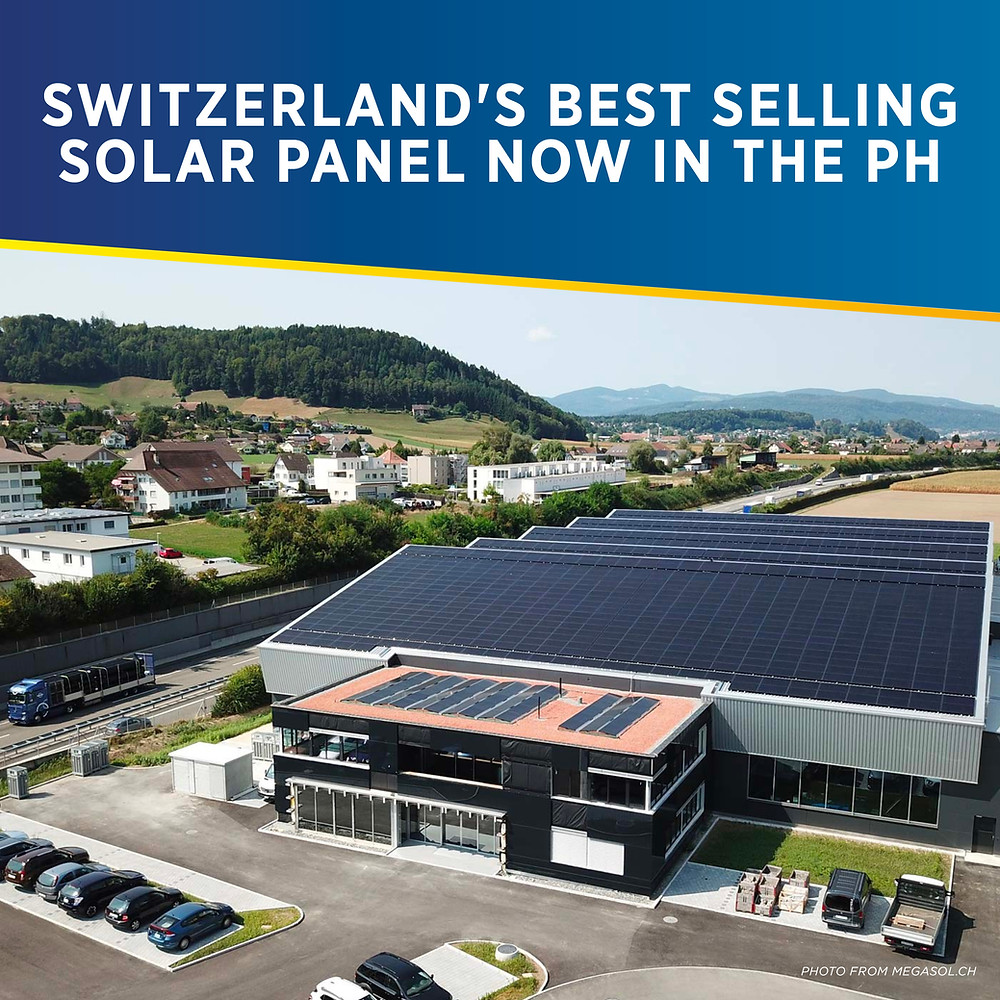 PHILERGY German Solar for homes and businesses - Switzerland's Best Selling Panel Megasol - High quality installer for solar power systems and top rated panel packages for residential, commercial and industrial roofs in the Philippines