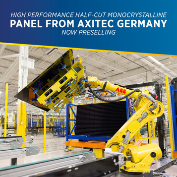 High Performance Half-Cut Monocrystalline Panel from Axitec Germany Now Preselling at PHILERGY