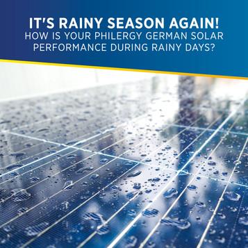 IT'S RAINY SEASON AGAIN! PHILERGY German Solar Panel System's performance during rainy days