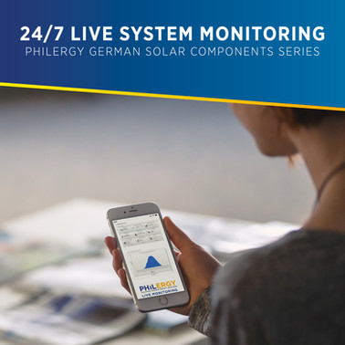 24/7 Live German Solar System Monitoring - PHILERGY German Solar Components Series
