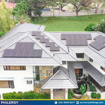 30-panel grid-tied solar system in Ayala Alabang - PHILERGY German Solar