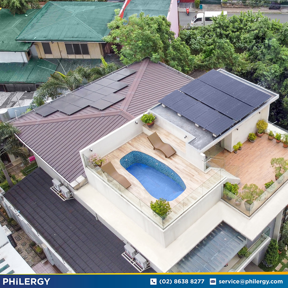 PHILERGY German Solar for homes and businesses  - 9.6 kwp gridtied for Quezon City home - High quality installer for solar power systems and top rated panel packages for residential, commercial and industrial roofs in the Philippines