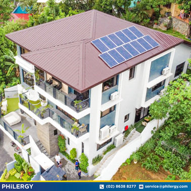 13-panel grid-tied solar system in Valley Golf, Antipolo City - PHILERGY German Solar