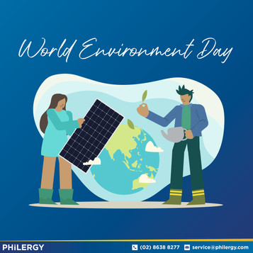 PHILERGY German Solar for World Environment Day 2020 - Clean energy for your home or business