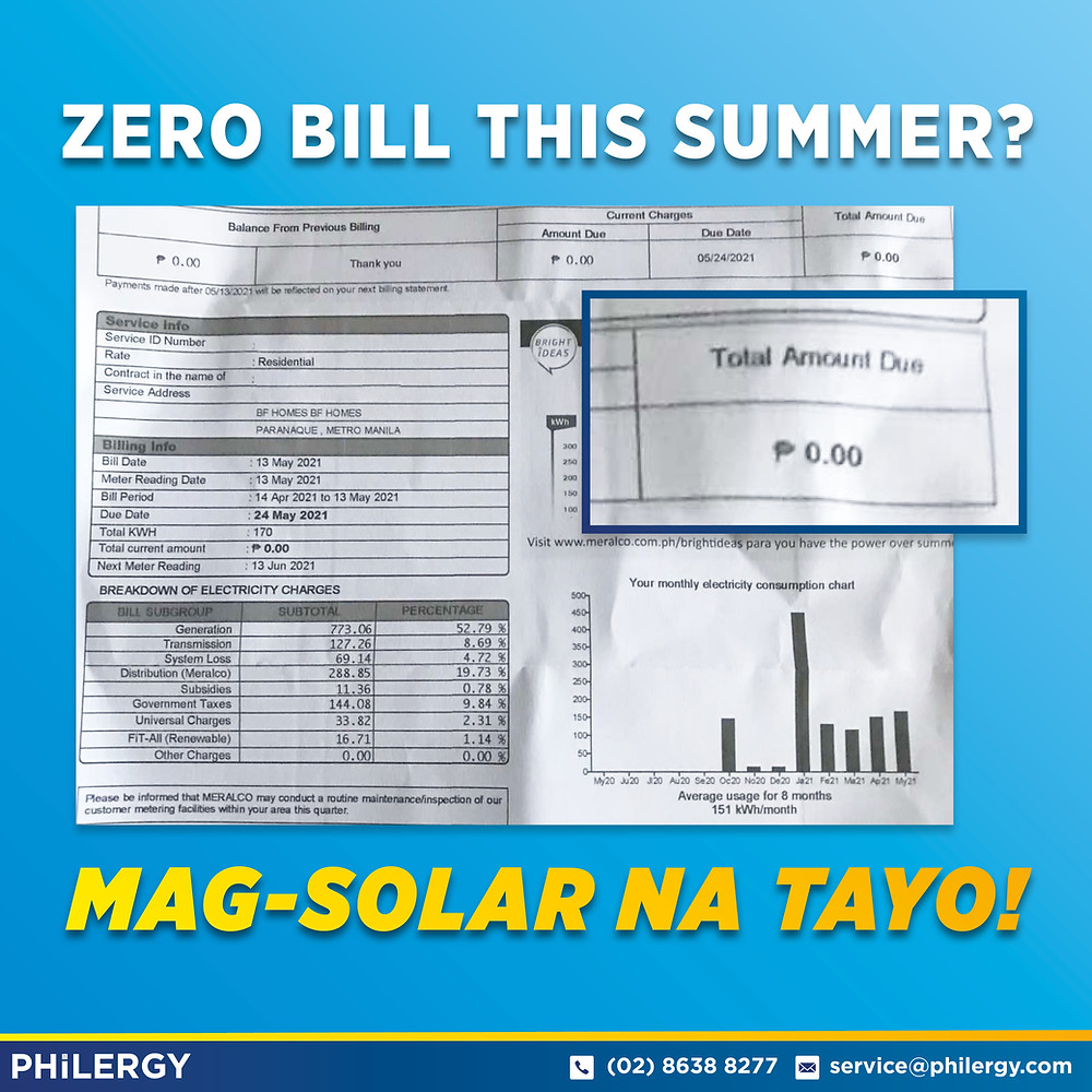 PHILERGY German Solar for homes and businesses - Zero Bill for Summer - High quality installer for solar power systems and top rated panel packages for residential, commercial and industrial roofs in the Philippines