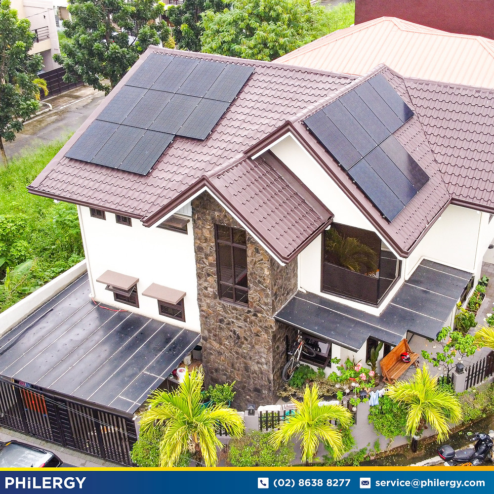 PHILERGY German Solar for homes and businesses  - 6.08 kwp gridtied for Quezon City home - High quality installer for solar power systems and top rated panel packages for residential, commercial and industrial roofs in the Philippines