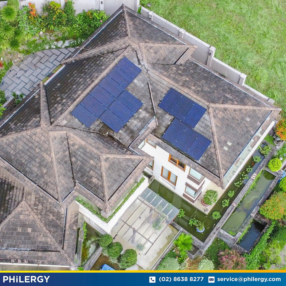 PHILERGY German Solar for homes and businesses  - 15 kwp gridtied for Quezon City home - High quality installer for solar power systems and top rated panel packages for residential, commercial and industrial roofs in the Philippines
