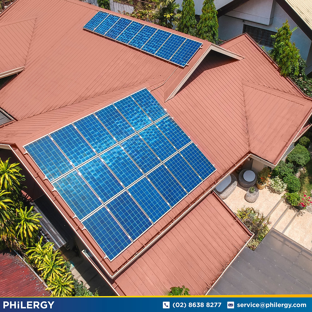 PHILERGY German Solar for homes and businesses  - 7 kwp gridtied for Quezon City home - High quality installer for solar power systems and top rated panel packages for residential, commercial and industrial roofs in the Philippines