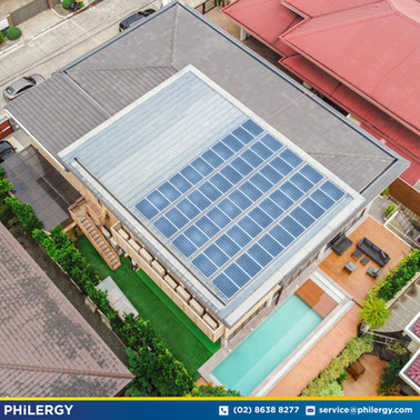 55-panel grid-tied solar system in Green Meadows, Quezon City - PHILERGY German Solar