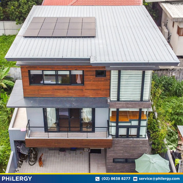15-panel grid-tied solar system in Cainta, Rizal - PHILERGY German Solar
