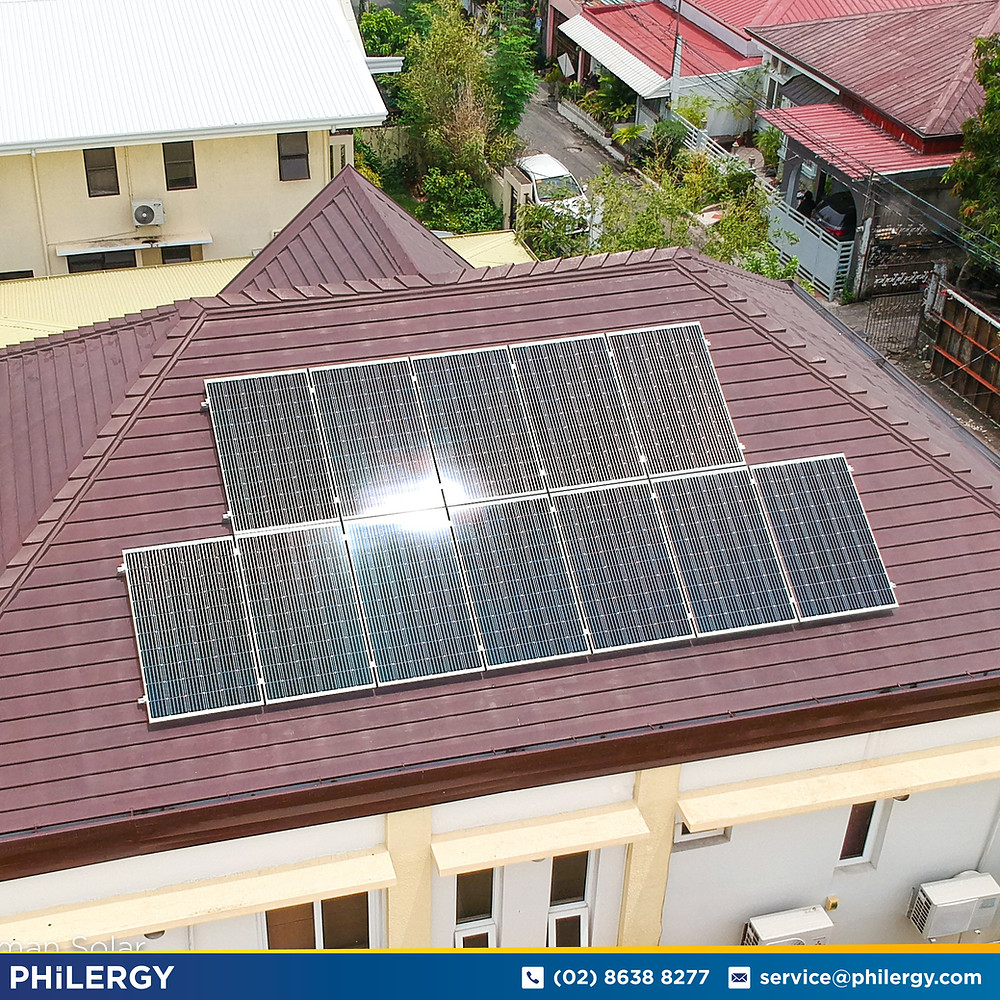 PHILERGY German Solar for homes and businesses  - 3.6 kwp gridtied for Paranaque City home - High quality installer for solar power systems and top rated panel packages for residential, commercial and industrial roofs in the Philippines