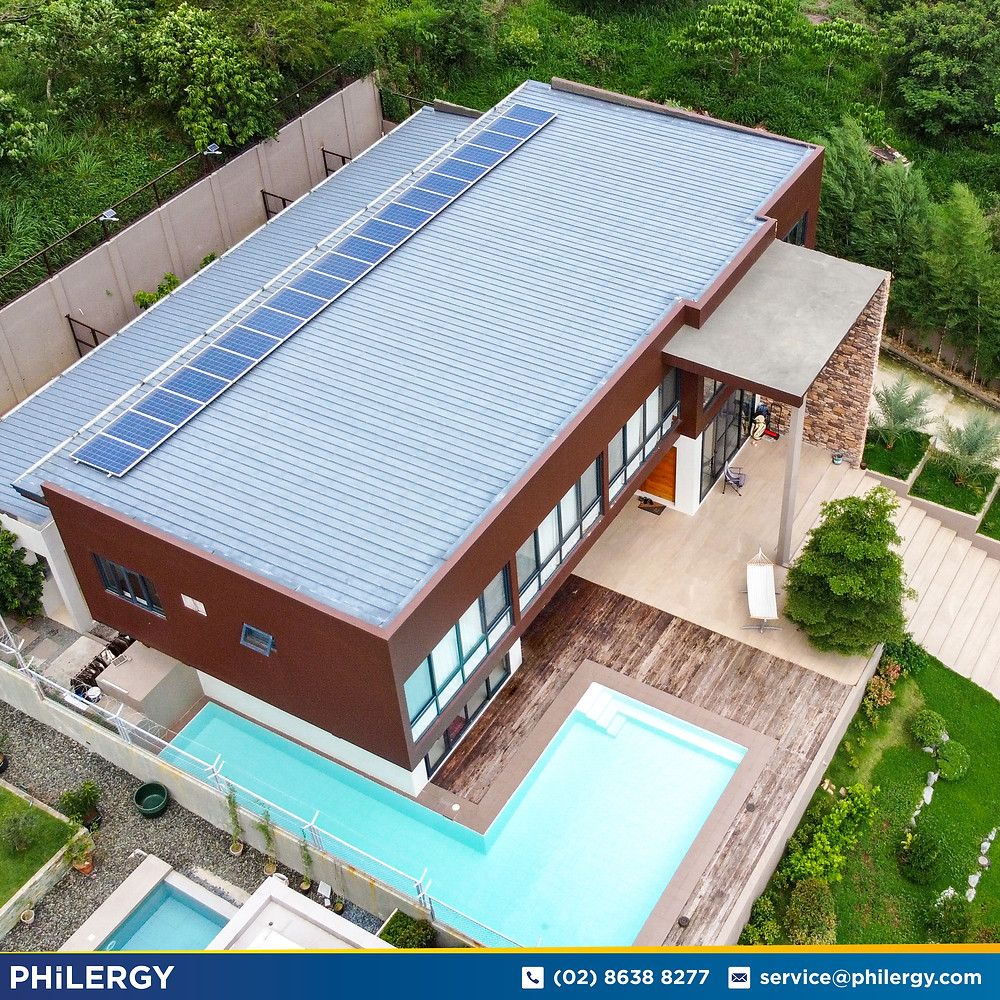 PHILERGY German Solar for homes and businesses  - 4.27 kwp gridtied for Quezon City home - High quality installer for solar power systems and top rated panel packages for residential, commercial and industrial roofs in the Philippines