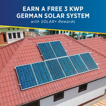 Earn a Free 3 kwp German Solar system with SOLAR+ Rewards - PHILERGY German Solar