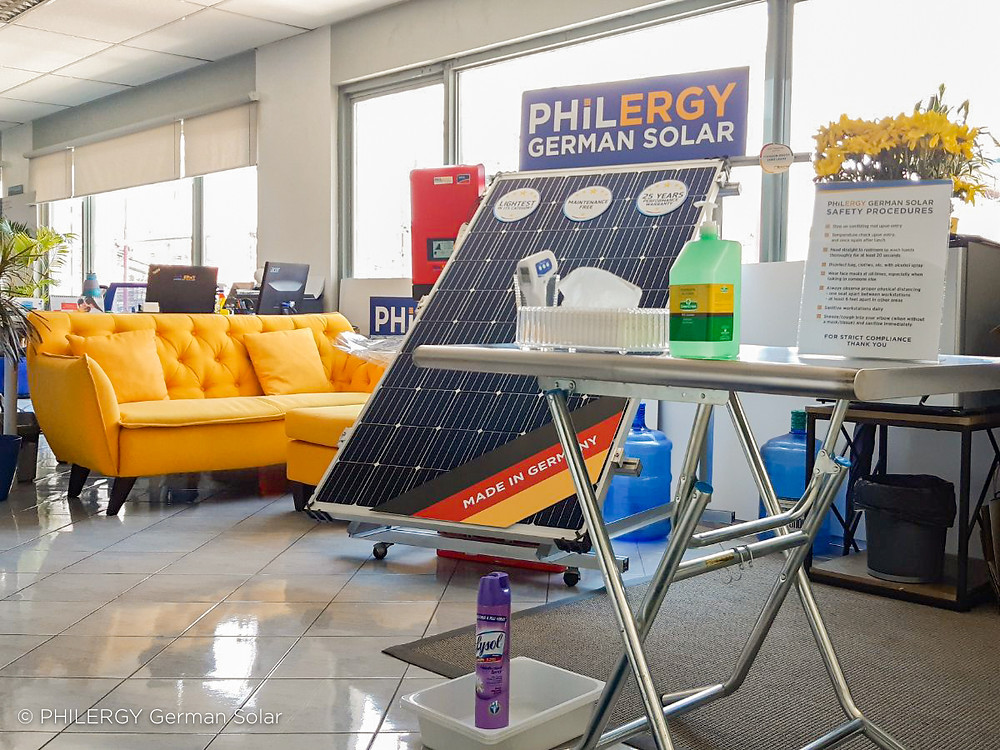 PHILERGY German Solar for homes and businesses - Office Sanitation Station - High quality installer for solar power systems and top rated panel packages for residential, commercial and industrial roofs in the Philippines