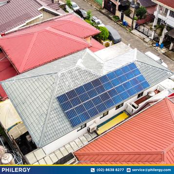 20-panel grid-tied solar system in Cainta, Rizal - PHILERGY German Solar