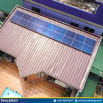 9-panel grid-tied solar system in Quezon City - PHILERGY German Solar