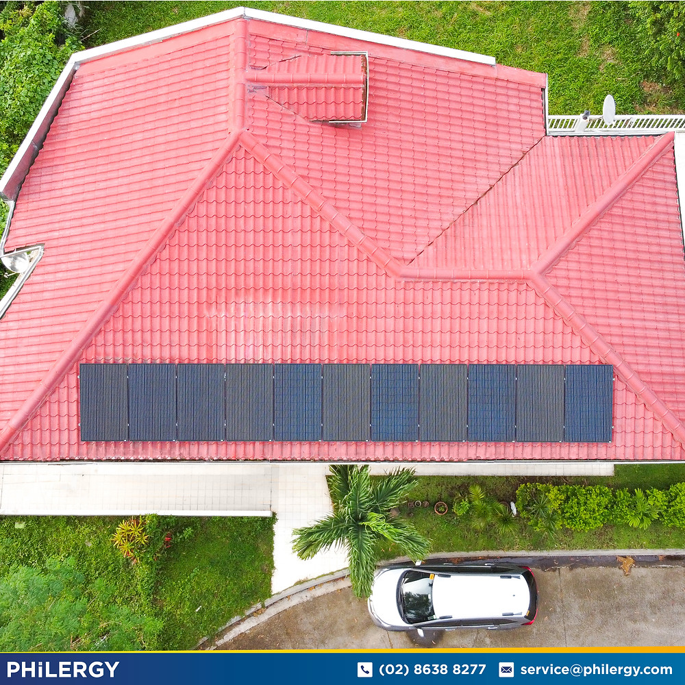 PHILERGY German Solar for homes and businesses  - 3.52 kwp gridtied for Cavite home - High quality installer for solar power systems and top rated panel packages for residential, commercial and industrial roofs in the Philippines