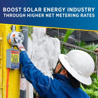 Boosting the solar energy industry through higher net metering rates   PHILERGY German Solar