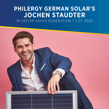 PHILERGY German Solar's Jochen Staudter Featured in Tatler Asia's Generation T List 2020