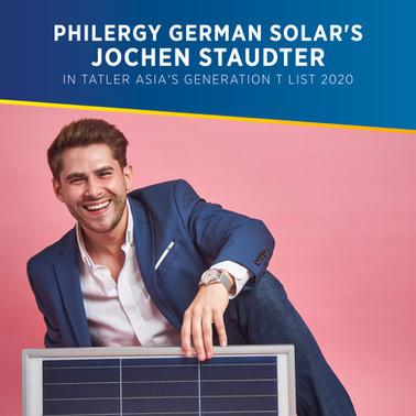 PHILERGY German Solar's Jochen Staudter Featured in Tatler Asia's Generation T List 2020