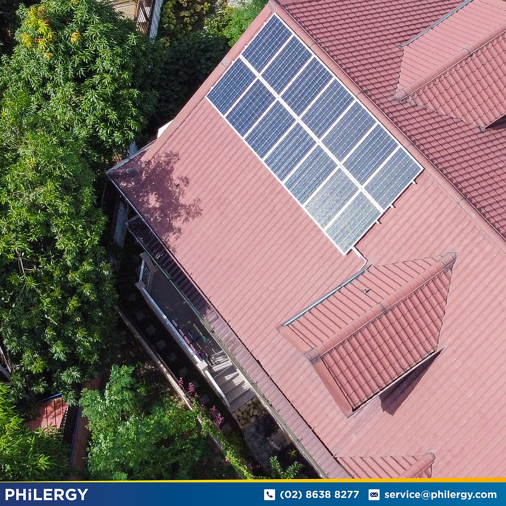 PHILERGY German Solar for homes and businesses  - 8.96 kwp gridtied for Muntinlupa City home - High quality installer for solar power systems and top rated panel packages for residential, commercial and industrial roofs in the Philippines