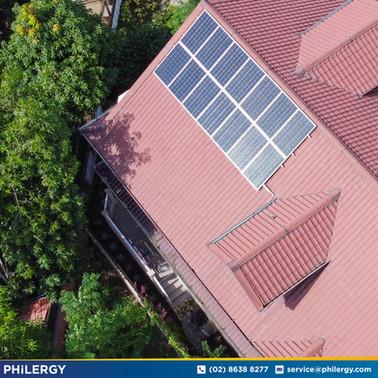 3.85 kWp grid-tied solar system in Biñan, Laguna - PHILERGY German Solar