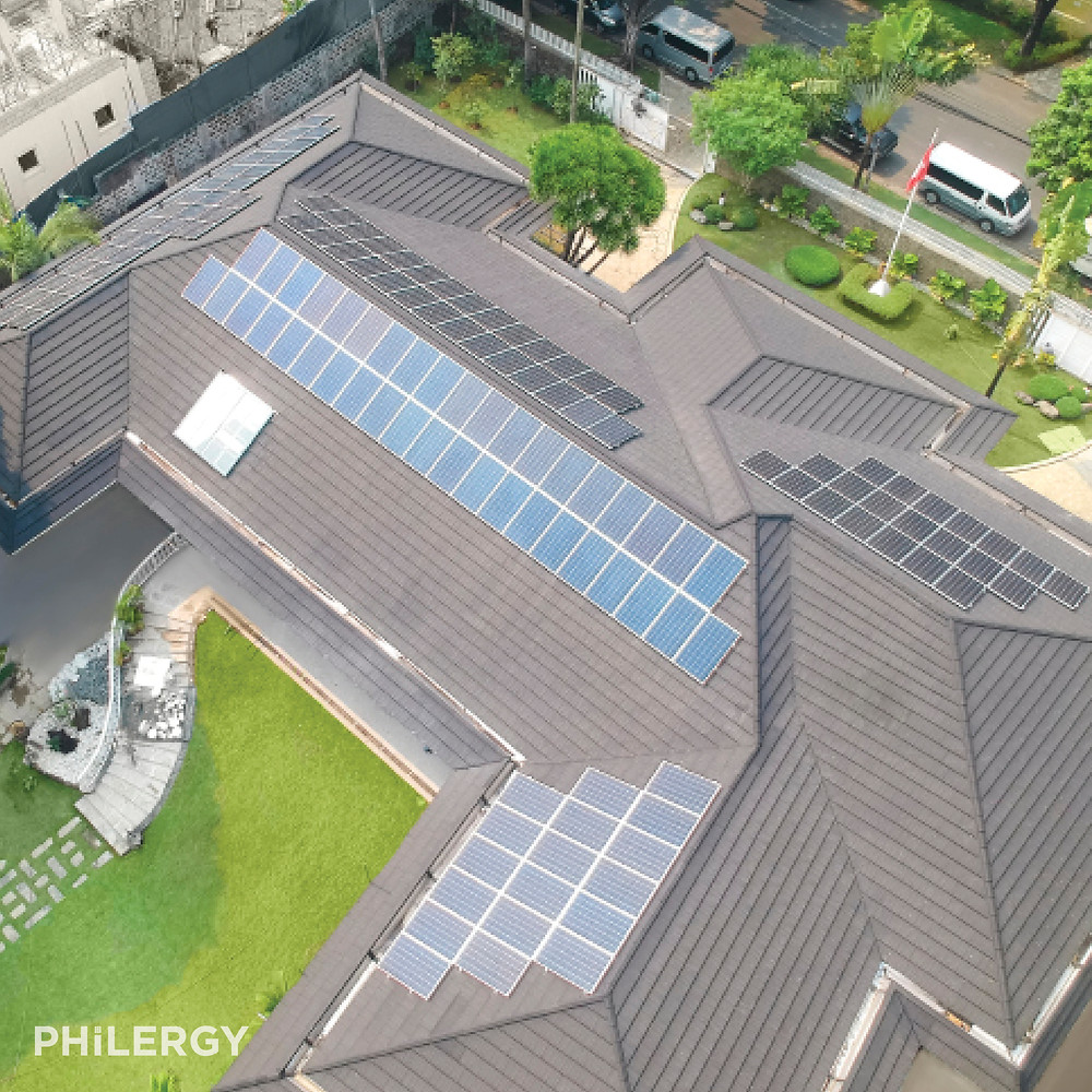 PHILERGY German Solar - 42 kWp German Solar System for a South Forbes Park, Makati home -  High quality solar panel packages and installations for residential and commercial rooftops in the Philippines