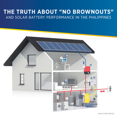 """The Truth About """"No Brownouts"""" and Solar Battery Performance in the Philippines 
