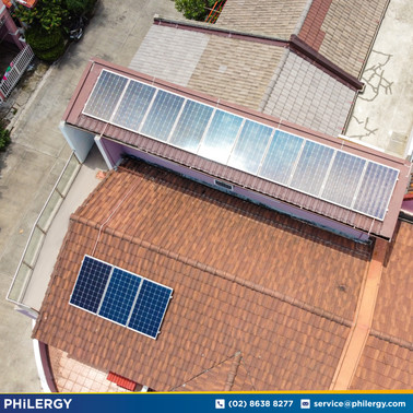 3.9 kWp grid-tied solar system in Taguig City - Philippines best solar supplier PHILERGY