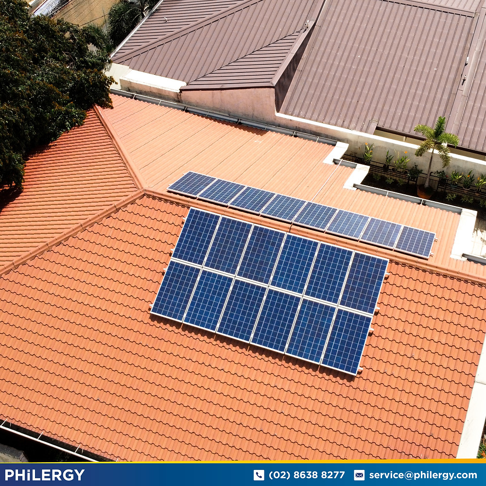 PHILERGY German Solar for homes and businesses  - 5.4 kwp gridtied for San Juan City home - High quality installer for solar power systems and top rated panel packages for residential, commercial and industrial roofs in the Philippines