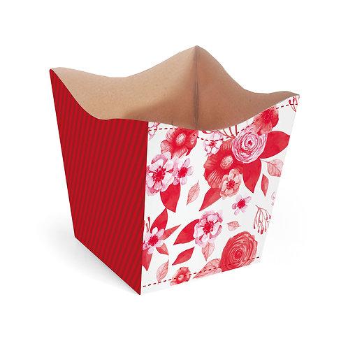 Cachepot Flores Vermelhas