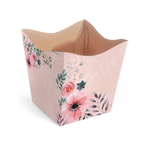 Cachepot Floral Rosê