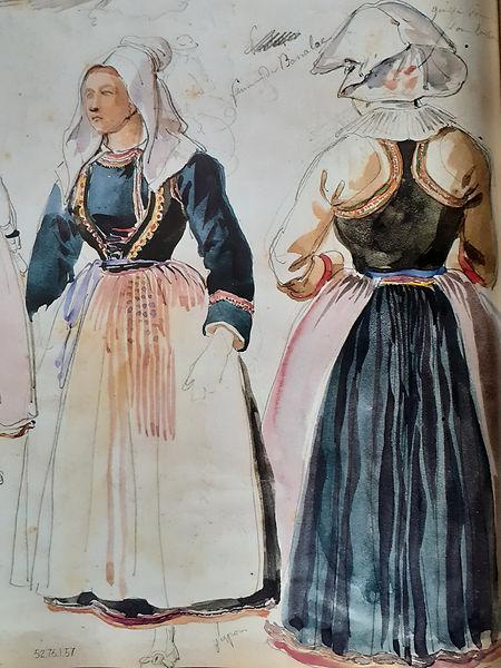 Costume 1850 Querrien Liviou Kerien