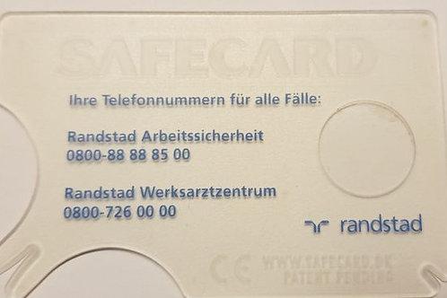ZECKENKARTE TRANSPARENT MIT LUPE 1-FARBIG BEDRUCKT AB 1,05 €