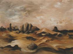rocks surface mars paint 2004