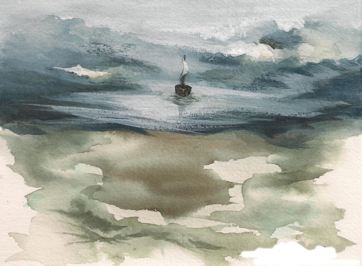 mystcoverewatercolorboat